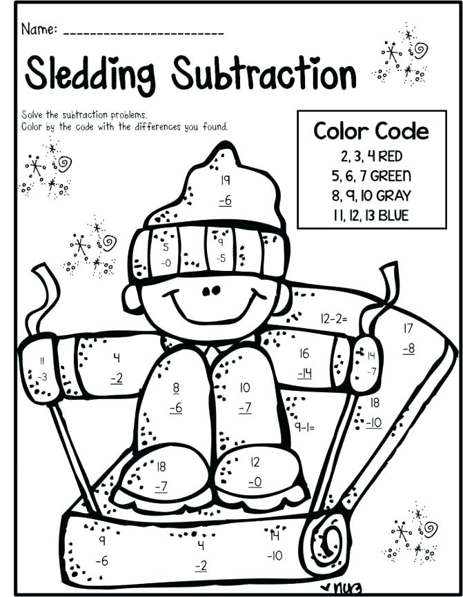 671x866 First Grade Coloring Pages Subtraction Coloring Pages Coloring