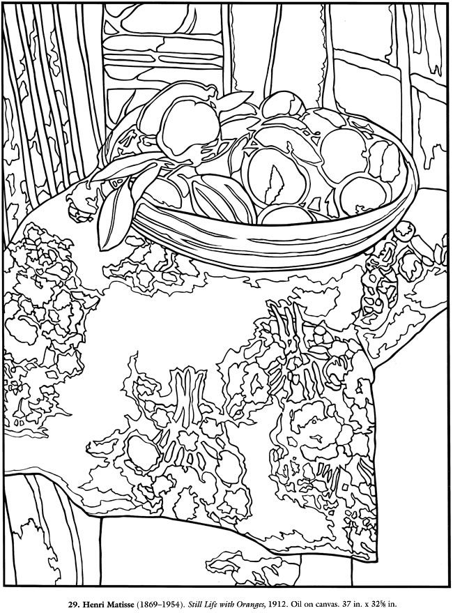 Matisse Coloring Pages