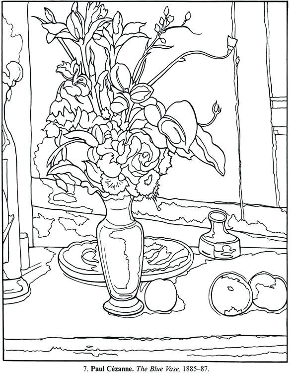 584x750 Matisse Coloring Pages Coloring Pages Art Masterpieces To Color