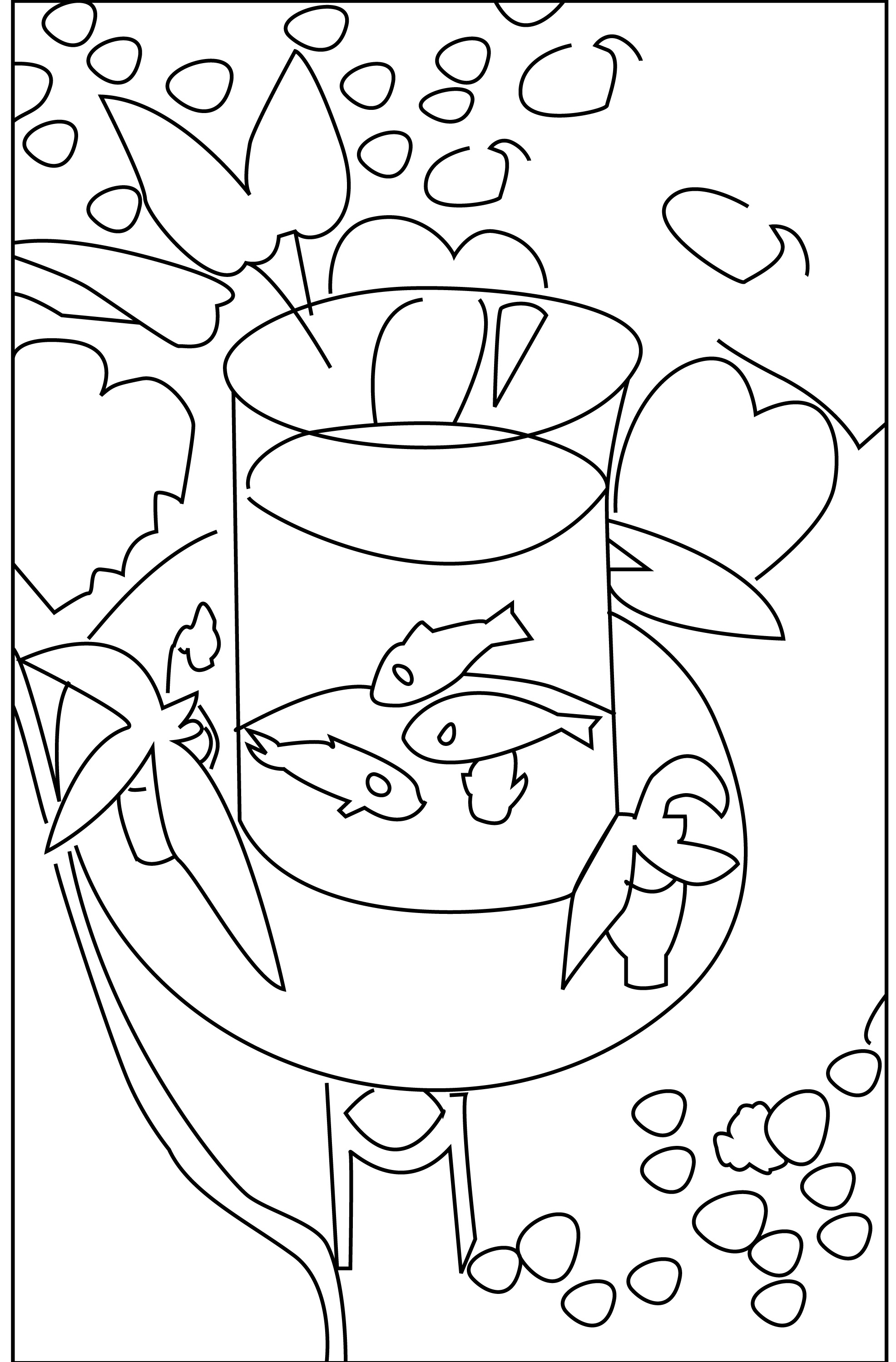 1973x3000 Coloring Book Matisse's Gold Fish Neo Decadent