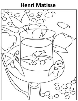 270x350 Matisse Coloring Page