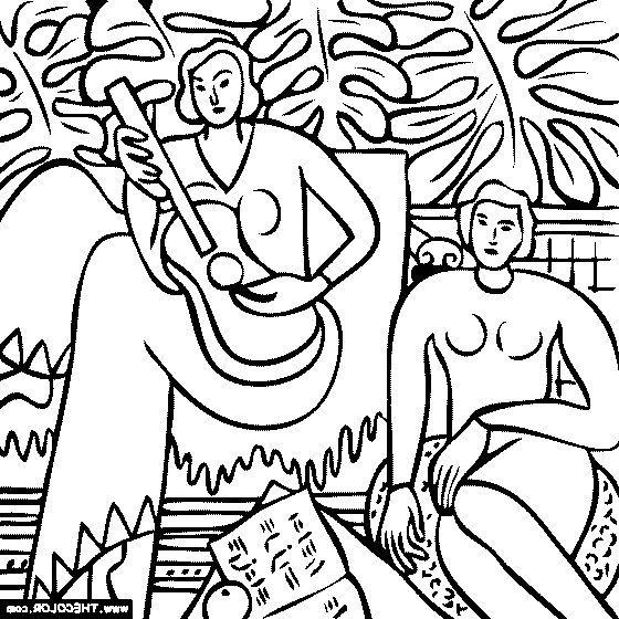 560x560 Artwork Coloring Pages Henri Matisse La Musique Coloring Page