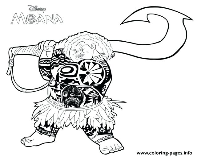 The best free Maui coloring page images. Download from 76 ...