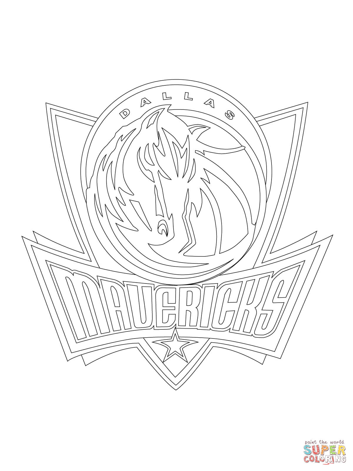 1200x1600 Dallas Mavericks Coloring Pages