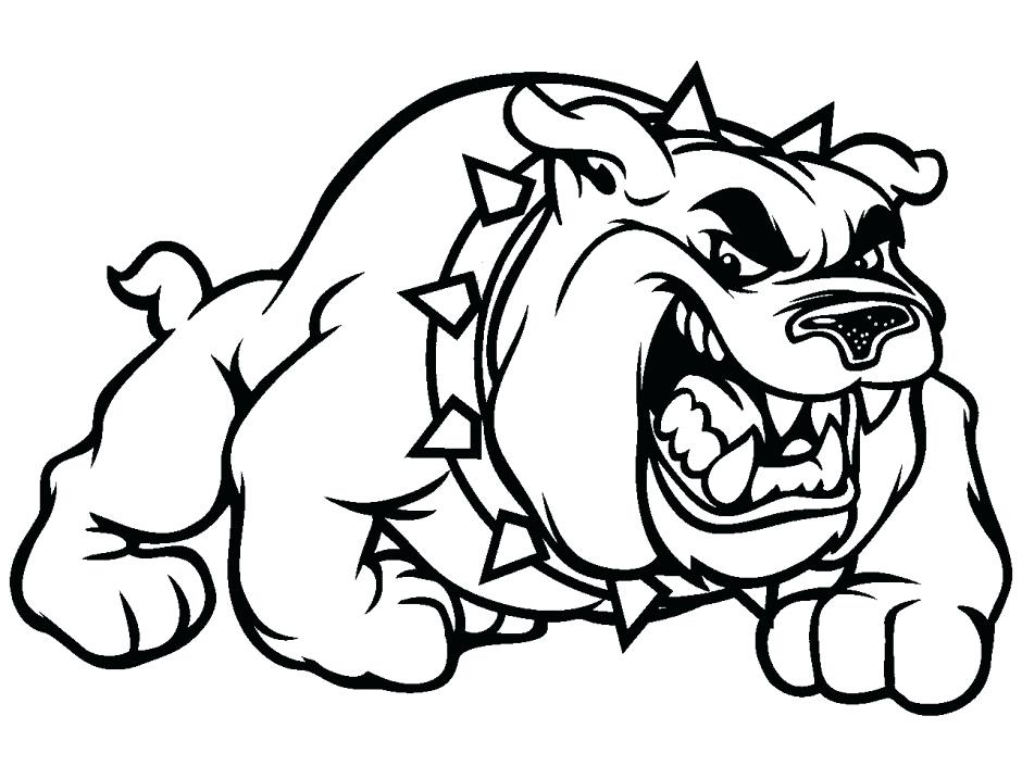 940x705 Bulldog Coloring Page Bulldog Coloring Pages Coloring Pages