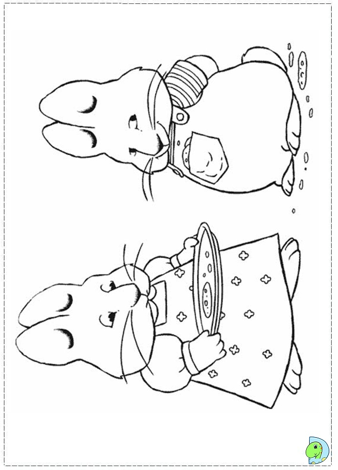 691x960 Max And Ruby Coloring Pages Printable