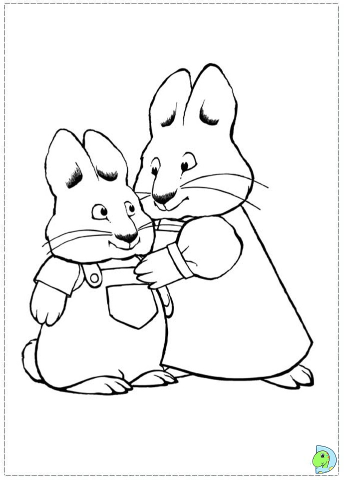 691x960 Max And Ruby Coloring Page