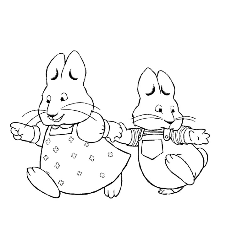 754x800 Free Printable Max And Ruby Coloring Pages For Kids