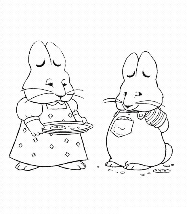 650x742 Free Printable Max And Ruby Coloring Pages For Kids