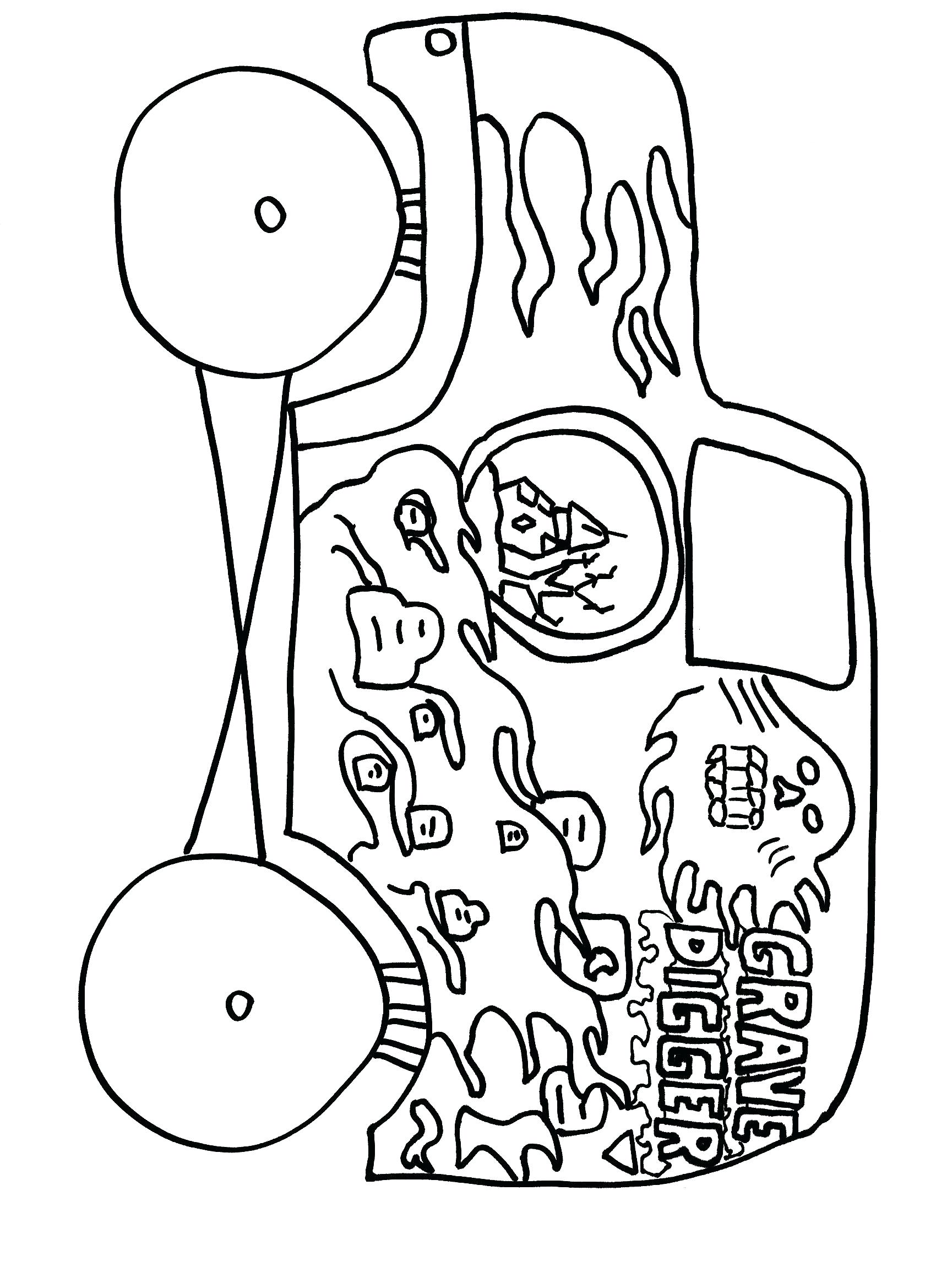 1700x2338 Grave Digger Coloring Pages Promising Monster Truck Page Max D