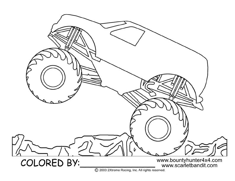 792x612 Monster Jam Coloring Pages Inspirational Max D Monster Truck