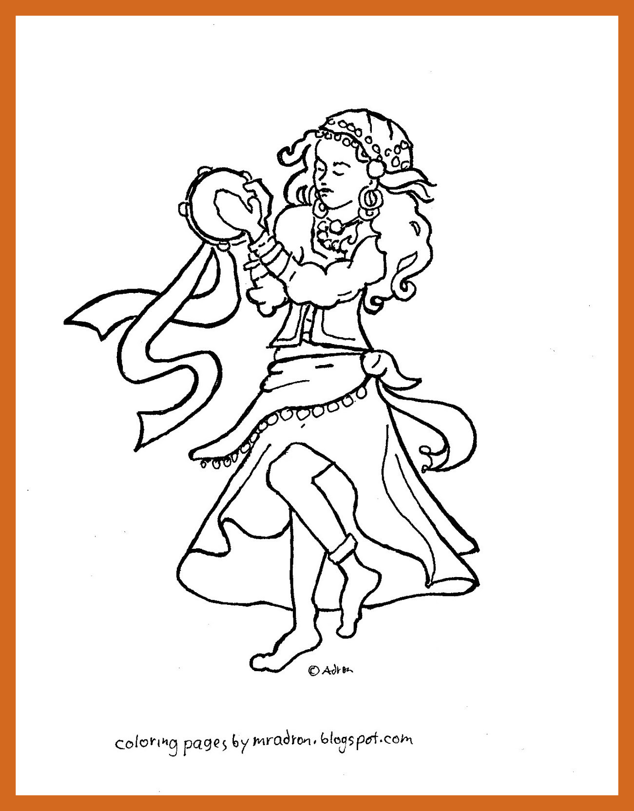 1301x1664 Awesome Gypsy Coloring Pages Gallery For Kids Image Max Trend