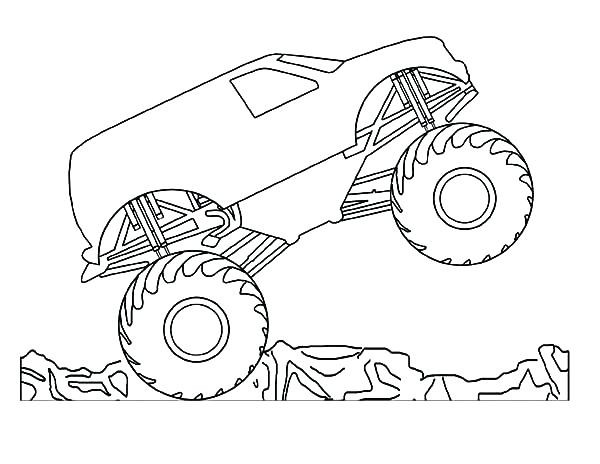 600x464 Max D Monster Truck Coloring Pages To Her With Monster Truck
