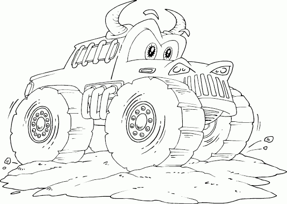 592x422 Monster Truck Coloring Pages Awesome Max D Monster Truck Pages