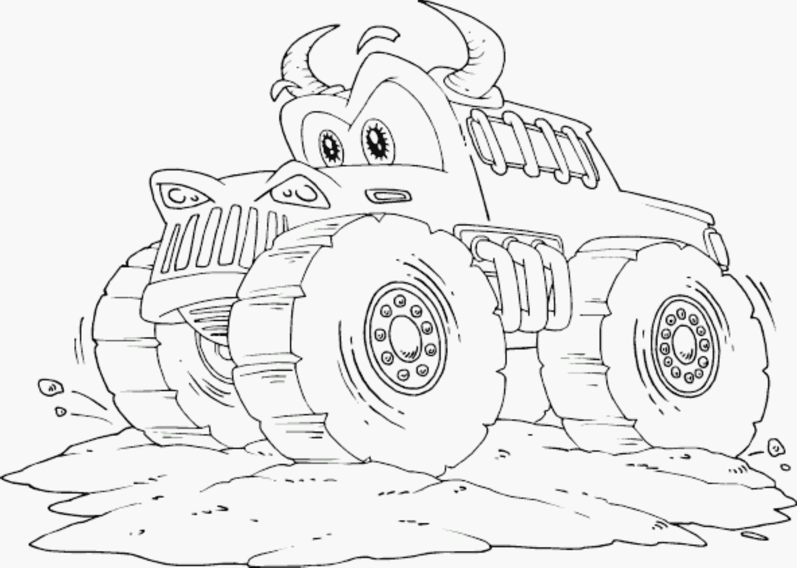 2551x1818 Monster Truck Coloring Pages Drawing With Kids Ribsvigyapan
