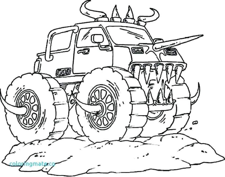 960x756 Monster Truck Color Page Grave Digger Monster Truck Coloring