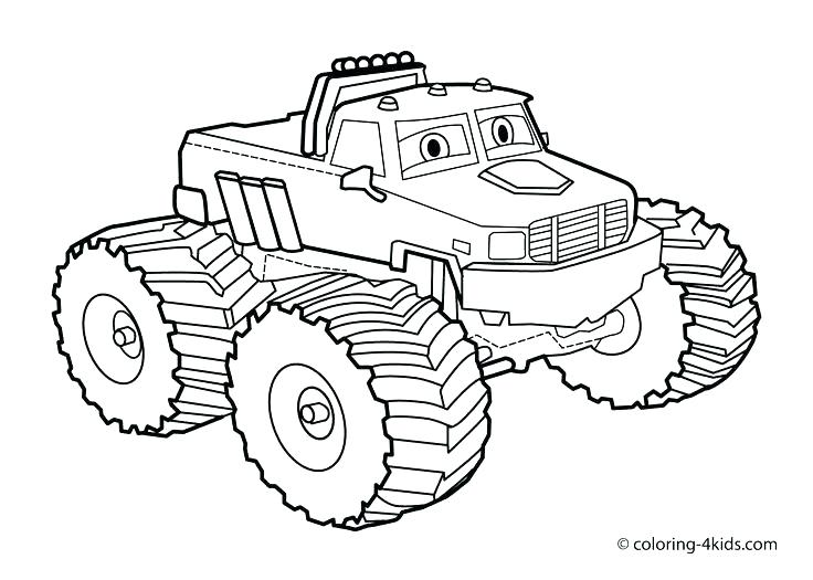 736x525 Monster Truck Coloring Pages Maximum Destruction And Monster Truck