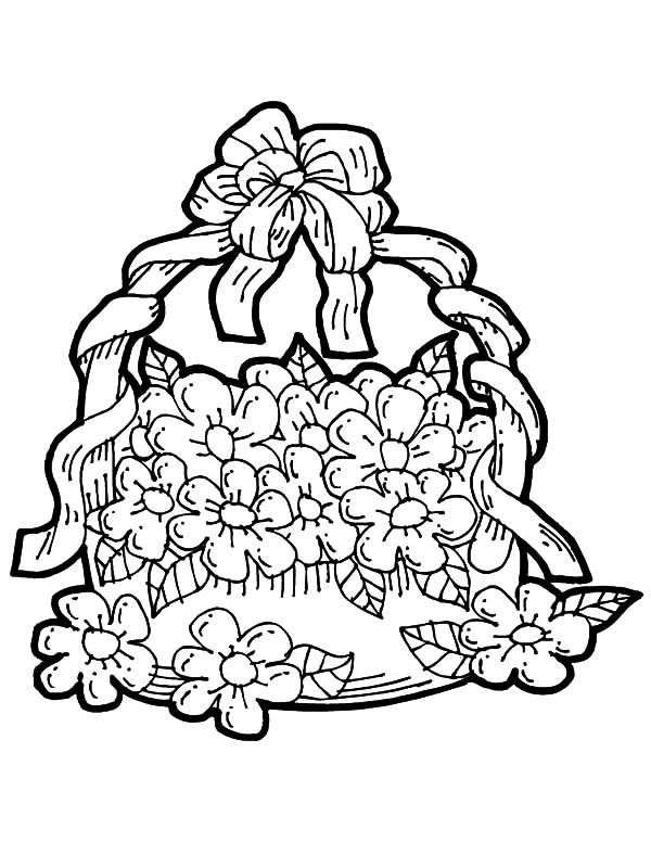 printable may flowers coloring pages | May Day Coloring Pages at GetDrawings.com | Free for ...