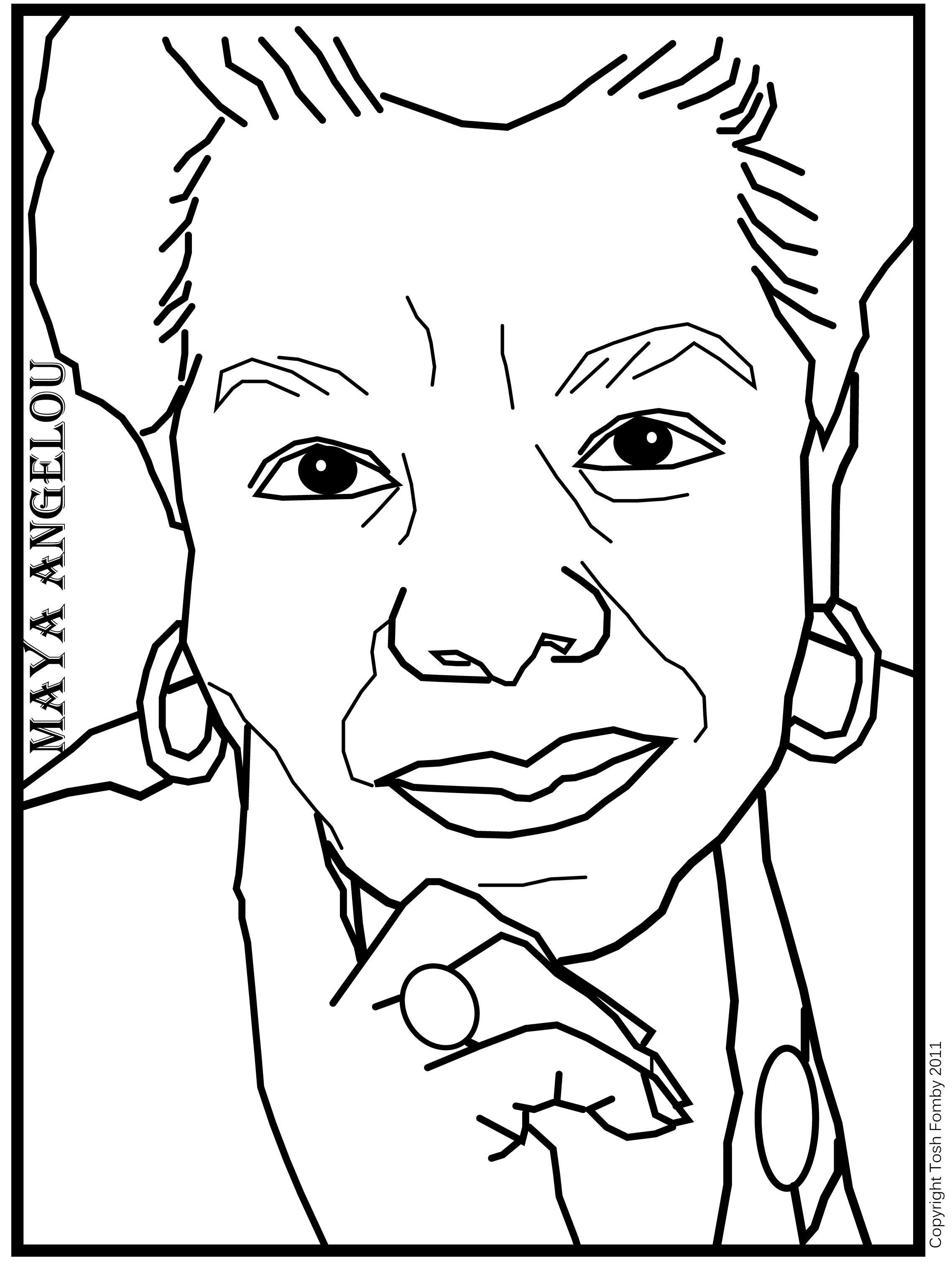 2277x3033 Coloring Page Maya Angelou Best Of Maya Angelou Poet Study