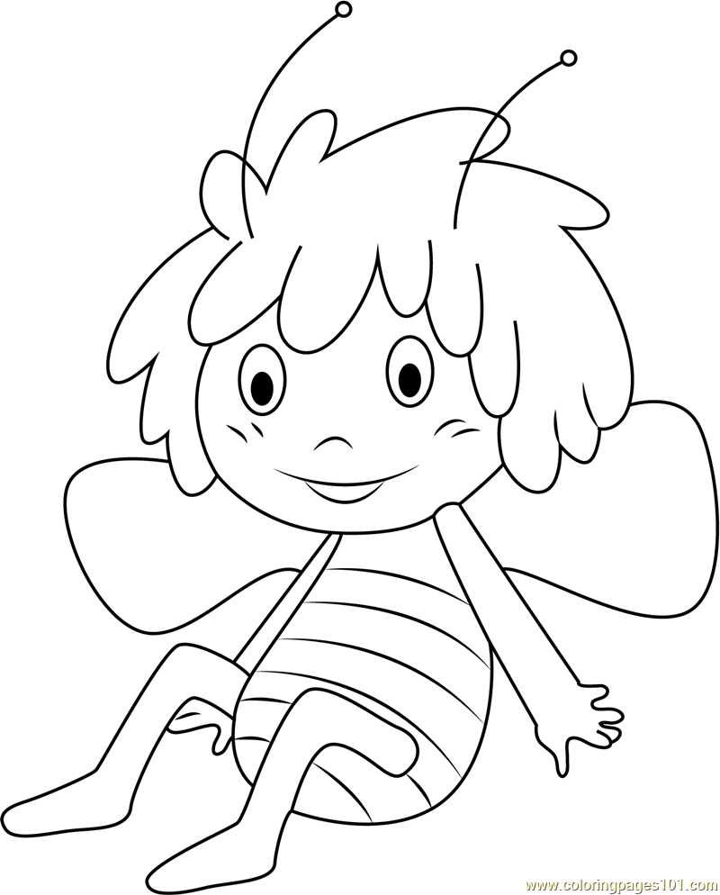 800x994 Maya The Bee Coloring Pages