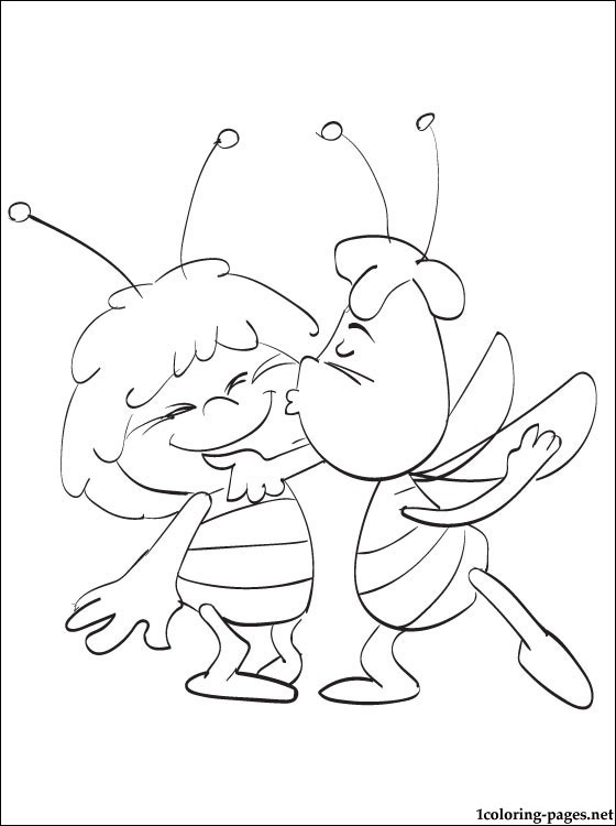 560x750 Coloring Pages Maya The Bee Online Coloring Pages