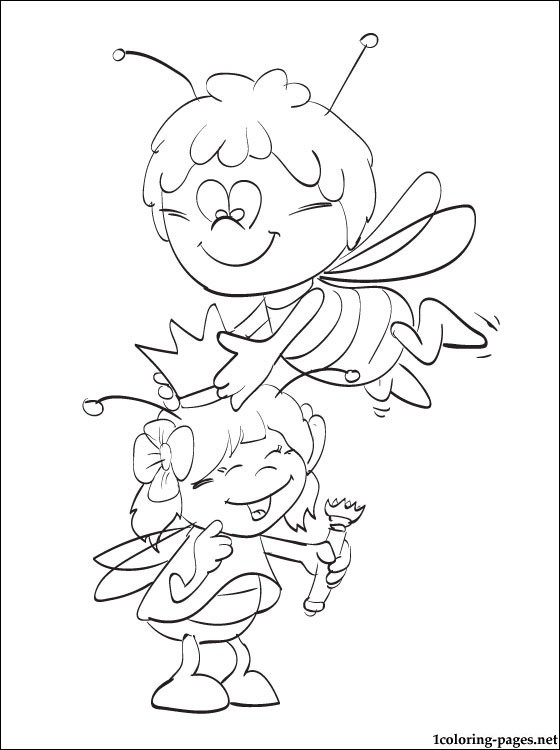 560x750 Maya The Bee Coloring Drawings Coloring Pages