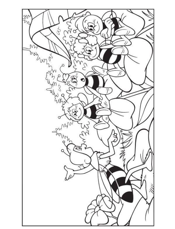 599x785 Maya The Bee Coloring Page