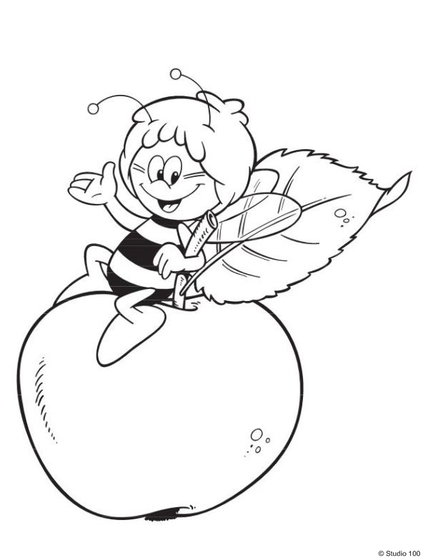 599x785 Kids N Coloring Pages Of Maya The Bee