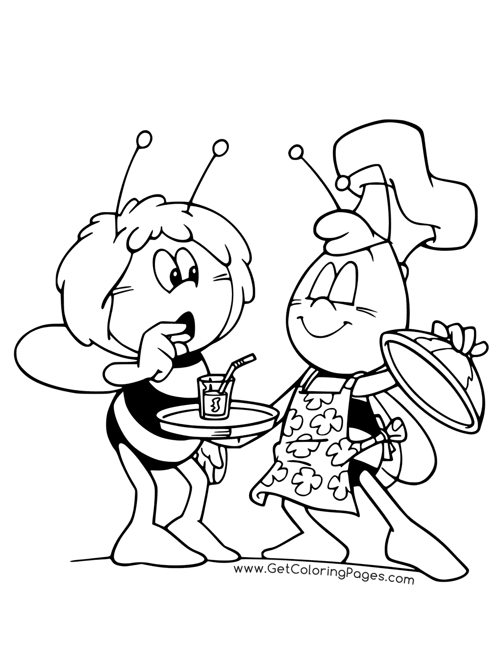 1024x1320 Maya The Bee Coloring Pages