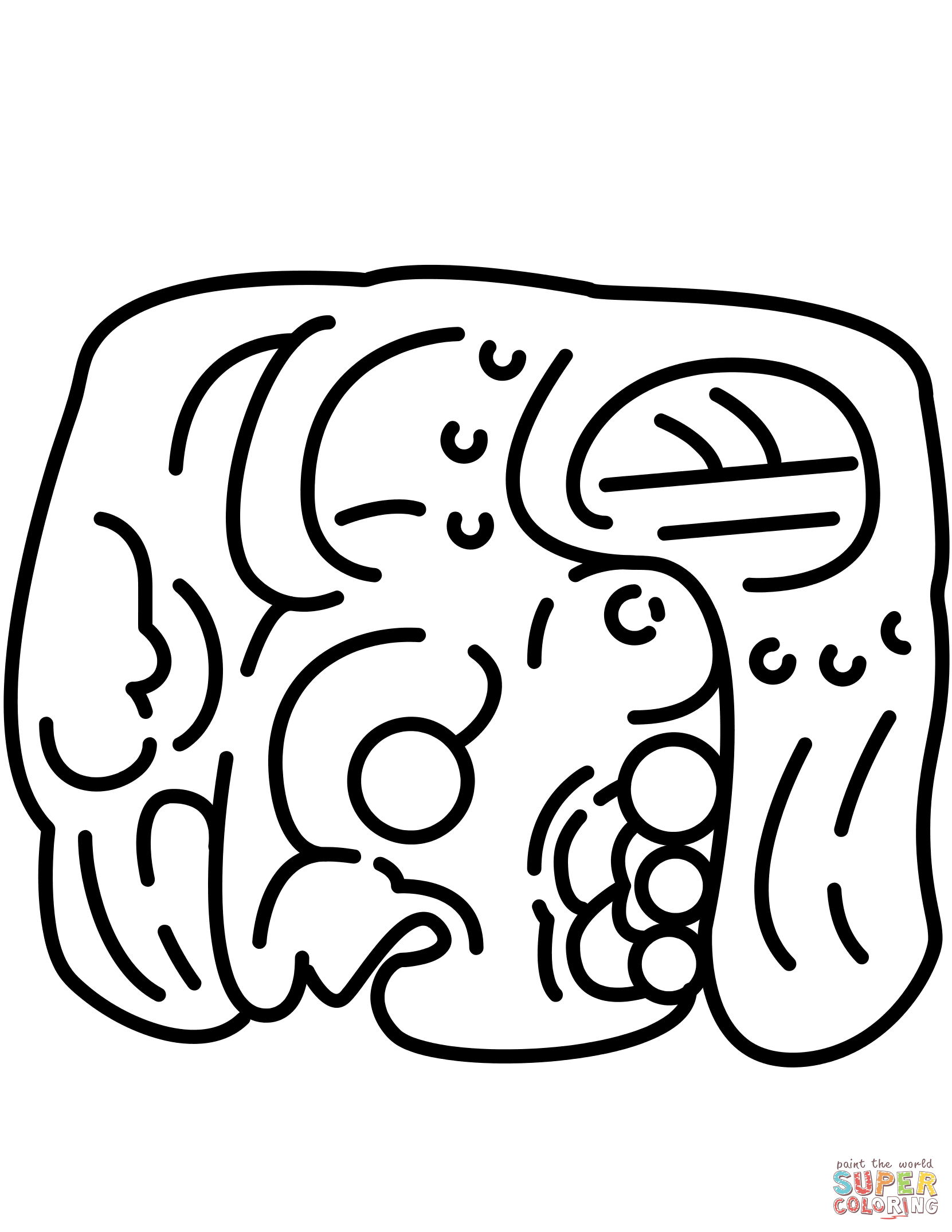 1661x2149 Mayan Calendar Coloring Page New Mayan Glyph Coloring Page