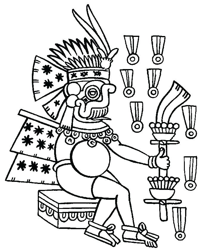 672x840 Mayan Coloring Pages Coloring Pages Free Mayan Calendar Coloring