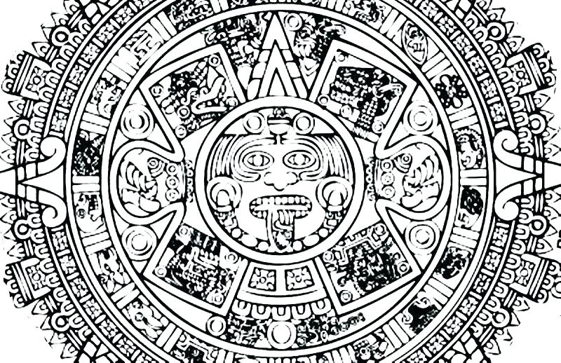 800x518 Mayan Coloring Pages Port Coloring Page Mayan Calendar Coloring