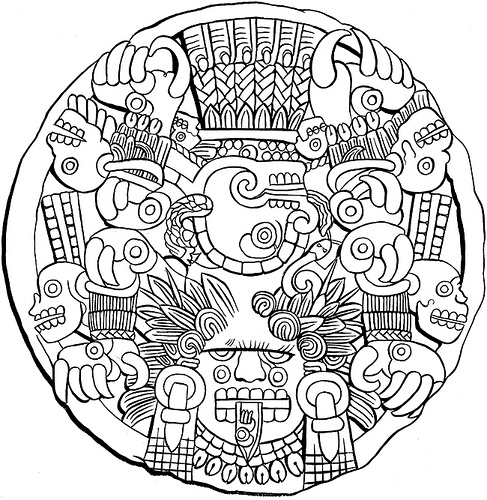 487x500 Mayan Coloring Pages Coloring Pages