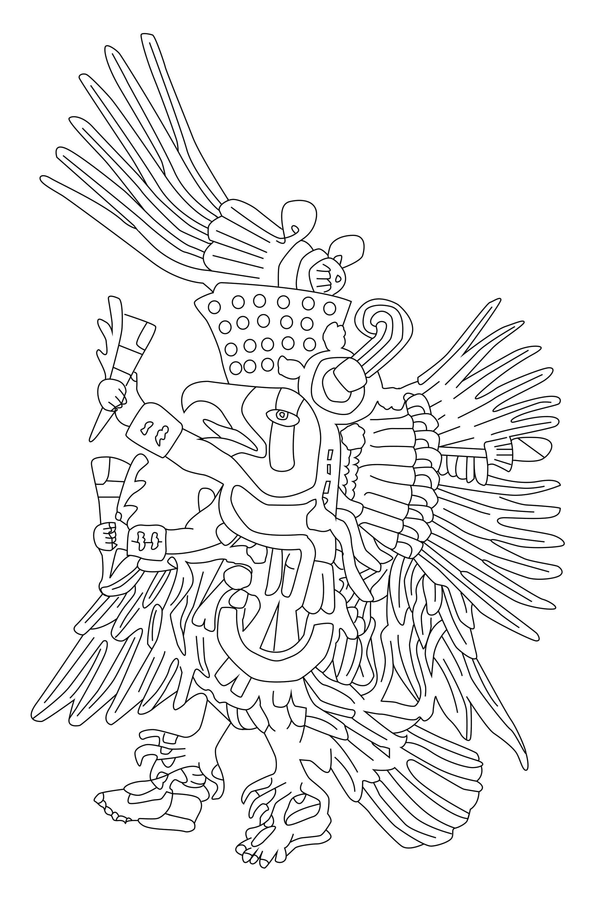 2055x3134 Awesome Free Coloring Page Coloringdult Chief Mayan