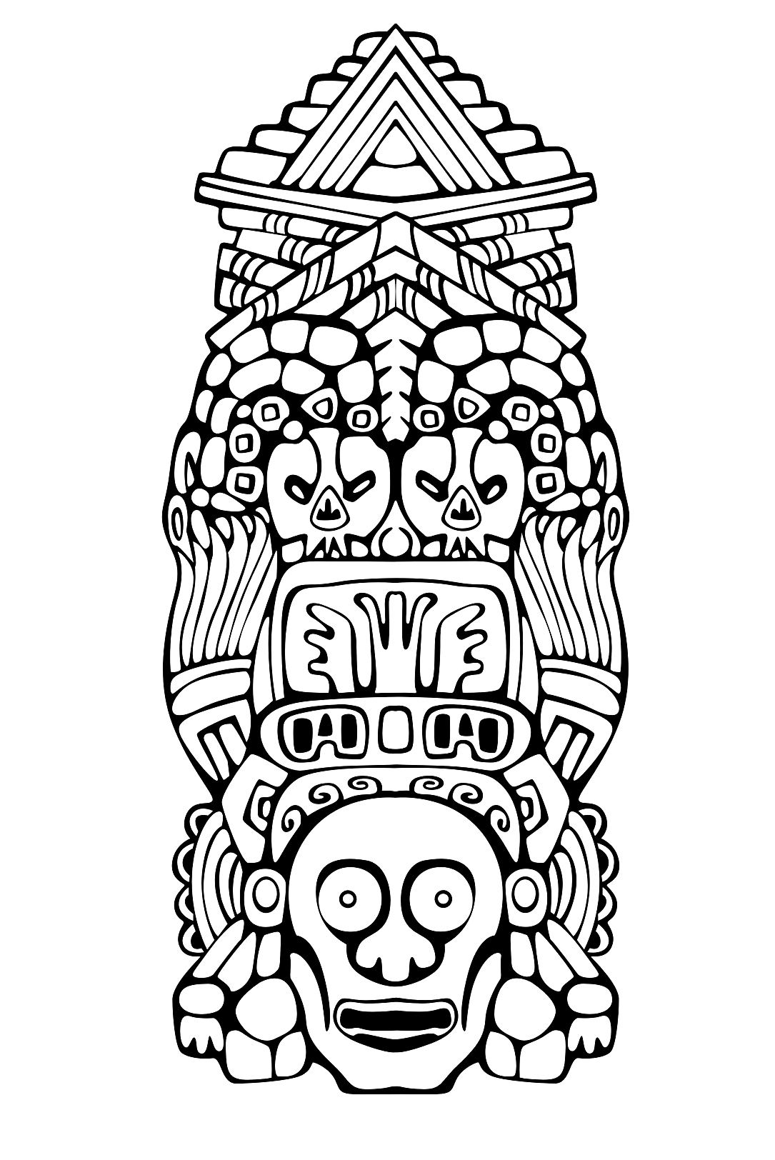 1085x1624 Totem Inspiration Inca Mayan Aztec