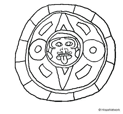 505x470 Coloring Pages Mayan Calendar Knights Page Countries