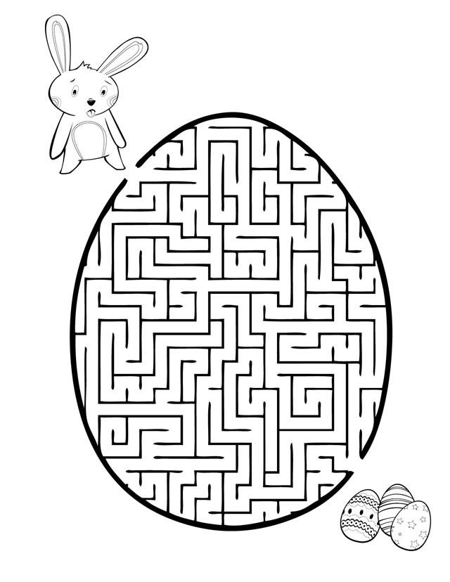 Maze Coloring Pages