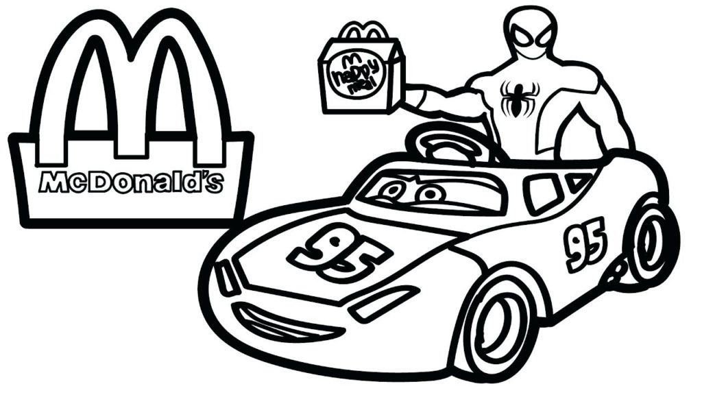 1024x576 Mcdonalds Coloring Pages Characters Bltidm Direct Lego Spiderman