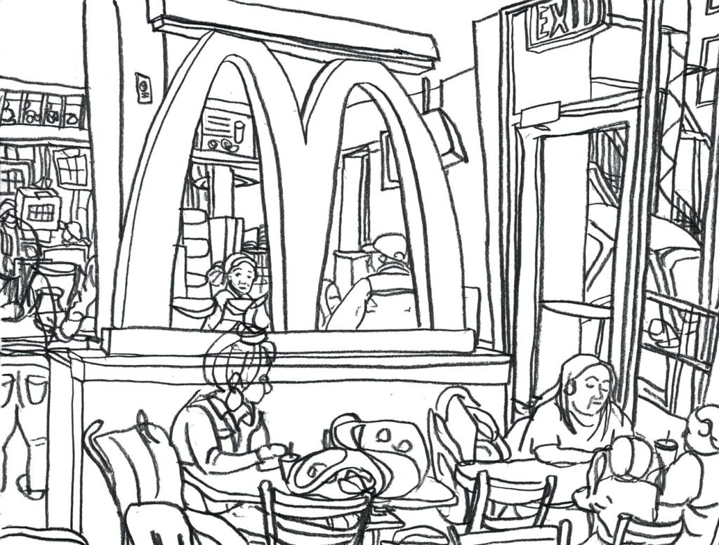 1024x776 Mcdonalds Coloring Pages Magic Mcdonald S Restaurant Bltidm