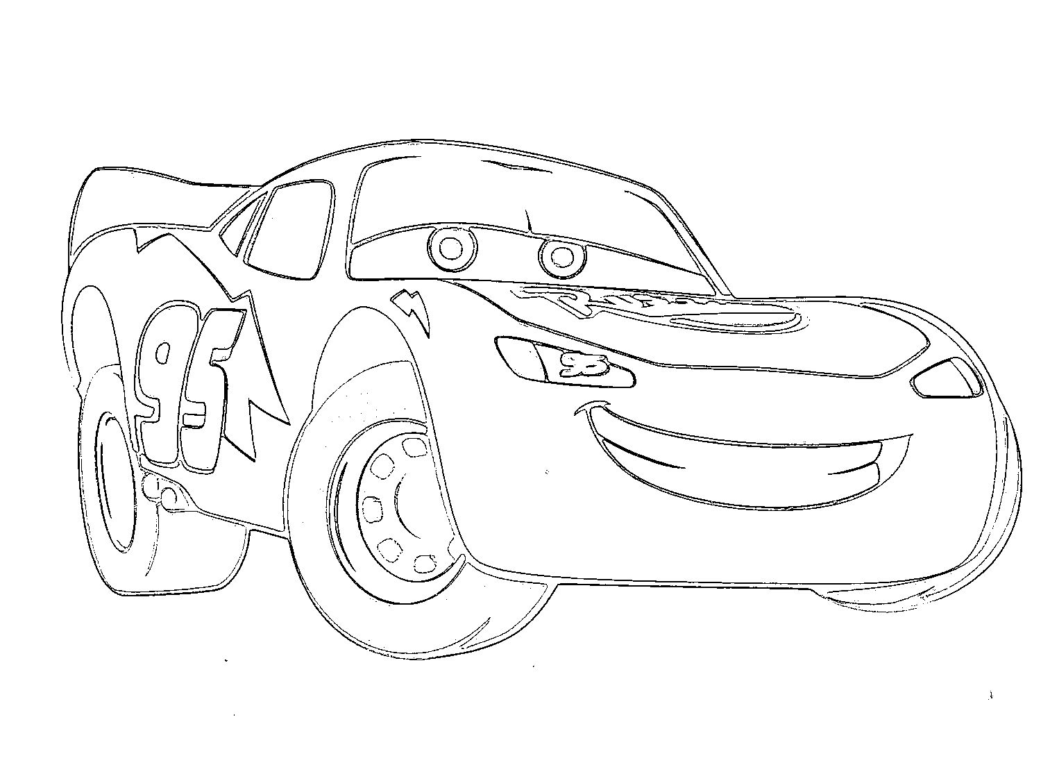 1500x1125 Printable Lightning Mcqueen Coloring Pages