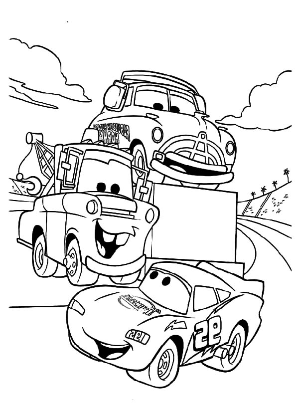 600x840 Tow Mater Say Hallo To Mcqueen Coloring Pages Color Luna