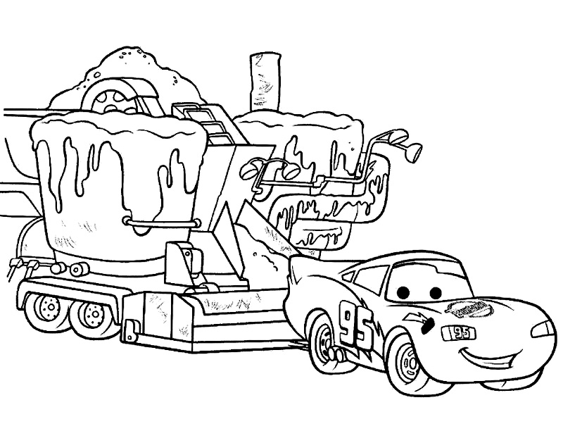 800x612 Free Printable Lightning Mcqueen Coloring Pages For Kids