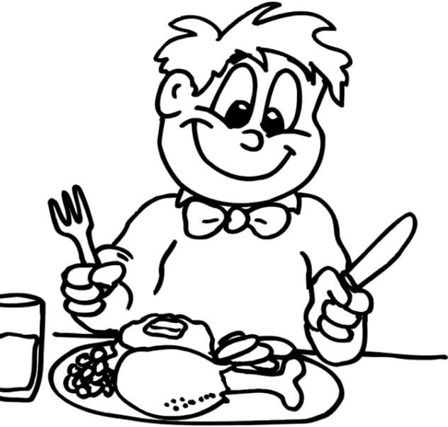 Meal Coloring Pages