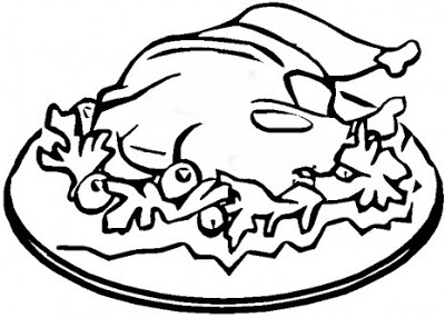 400x286 Thanksgiving Turkey Meal Coloring Pages, Thanksgiving Turkey Dish