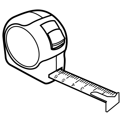 500x500 Tapemeasure Picture To Color Tape Measure