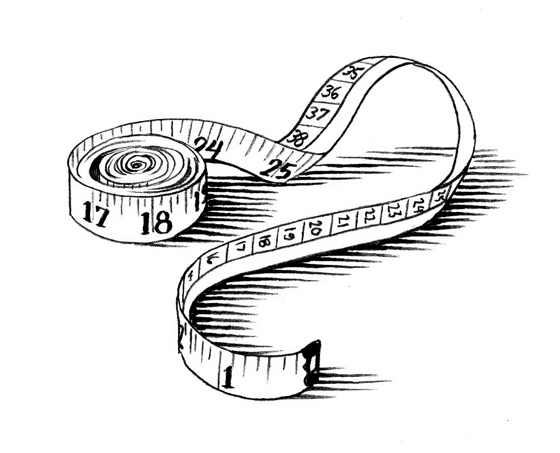 1101x891 Measuring Tape Coloring Page