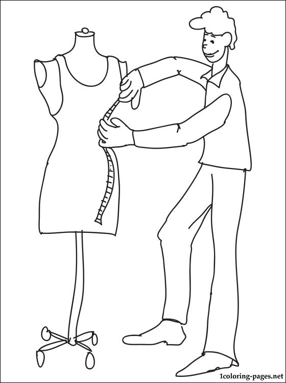 560x750 Tailors Cutter Coloring Page Coloring Pages
