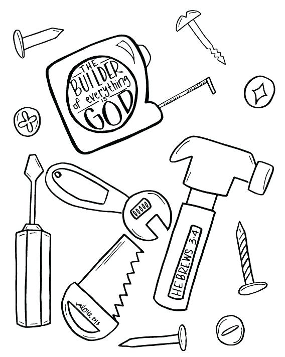 568x712 Tool Coloring Pages Amazing Construction Tools Coloring Pages New