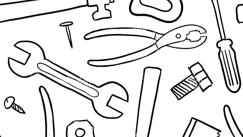 960x544 Tools Coloring Page Tools Coloring Pages Coloring Pages Of Tools