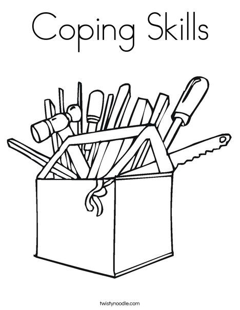 468x605 Coping Skills Coloring Page